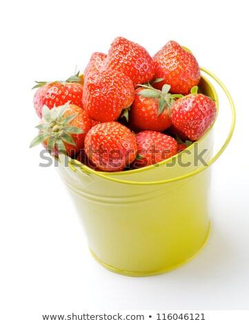 Eprek bent citromsárga vödör tökéletes nyers Stock fotó © zhekos