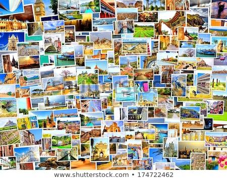 Album na wycinki podróży nieruchomości plakat projektu antyczne Zdjęcia stock © DavidArts
