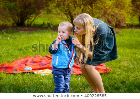 Woman shushing the children Stock photo © photography33