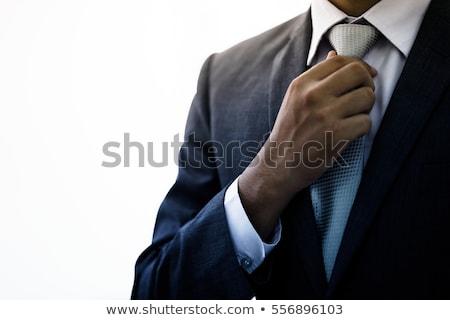 деловой человек галстук черное платье чтение газета служба Сток-фото © juniart