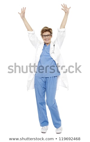 wesoły · lekarza · uroczystości · portret - zdjęcia stock © stockyimages
