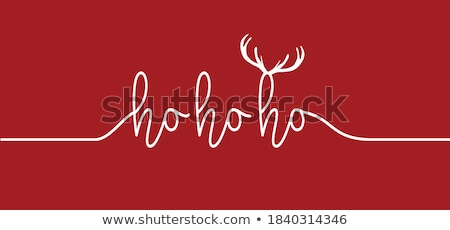 ho ho ho christmas card vector stock photo © beaubelle