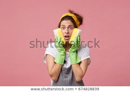 Ritratto donna lavori di casa bianco spazio Foto d'archivio © wavebreak_media