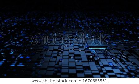 Digitale patroon elektriciteit gegevens tech boord Stockfoto © pterwort
