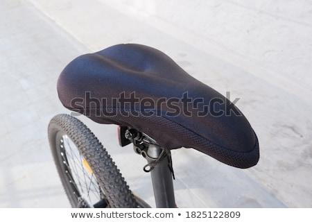 nowoczesne · wyścigu · rowerów · górskich · odizolowany · biały · studio - zdjęcia stock © foka
