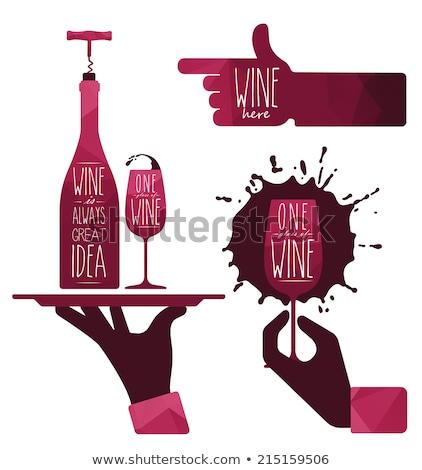 Degustación vino fresco de moda jóvenes Foto stock © lithian