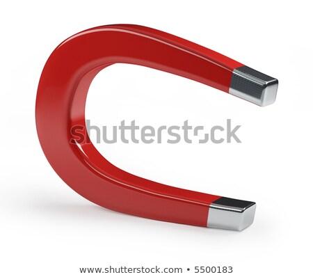 Hoefijzer magneet witte technologie Stockfoto © shutswis