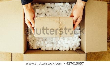 Man holding box full of empty bottles Stock photo © photography33