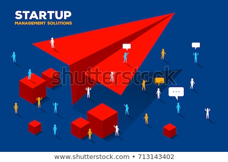 3D People with paper plane Stock photo © Quka