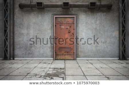 rusty old metal door stock photo © bertl123
