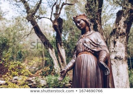 Szűz szobor anya templom kék Biblia Stock fotó © kyolshin