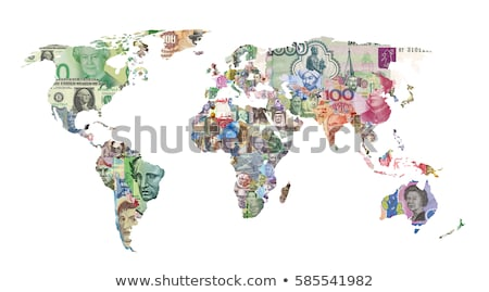 Wereld geld groene business succes euro Stockfoto © Roka