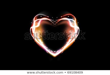 Soyut kalp renkli duman sevmek ışık Stok fotoğraf © rioillustrator