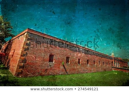 Bastion Rumunia starych ściany niebo budynku Zdjęcia stock © dinozzaver