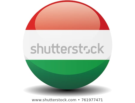 európai · zászló · térkép · Magyarország · izolált · fehér - stock fotó © ustofre9