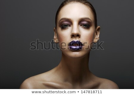 Glam. Classy Ambitious Woman with Glossy Bright Makeup. Elegance Stock photo © gromovataya