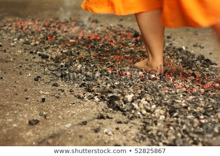 Walk On Fire Stock photo © Lightsource