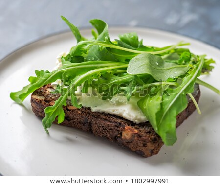 закуска поджаренный творог коттедж свет хлеб Сток-фото © fanfo