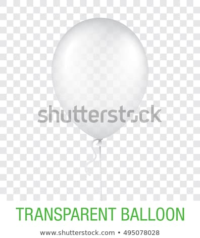 white balloon vector illustration Stock photo © konturvid