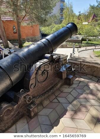 небольшой квадратный пушка древних небе дома Сток-фото © Antonio-S