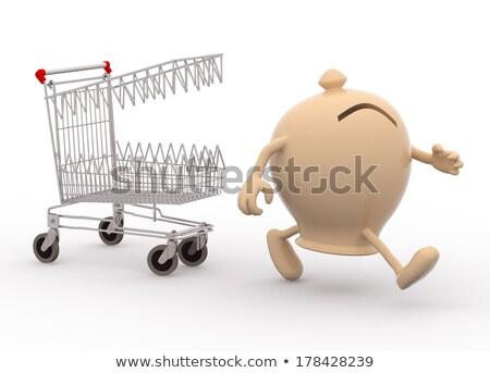 Bevásárlókocsi lyuk csepp kiskereskedelem eladó rossz Stock fotó © iqoncept