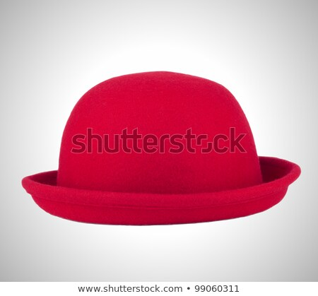 Red bowler or derby hat Stock photo © Balefire9