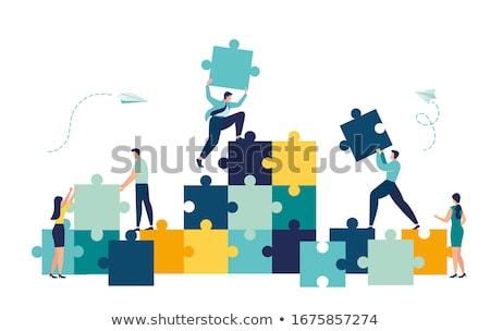 большой головоломки человека небольшой китайский Сток-фото © jayfish
