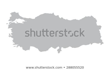 Grey Turkey map Stock photo © Volina