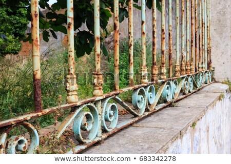 rozsdás · kerítés · részlet · rozsda · textúra · öreg - stock fotó © angusgrafico