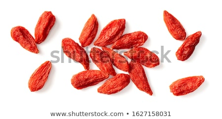 Pile of red Goji berries isolated on white background Stock photo © gigra
