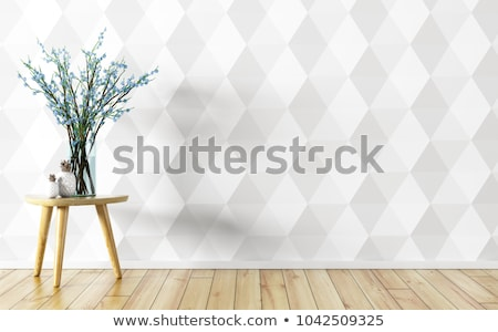 Empty Interior Background With Floral Stock photo © TLFurrer