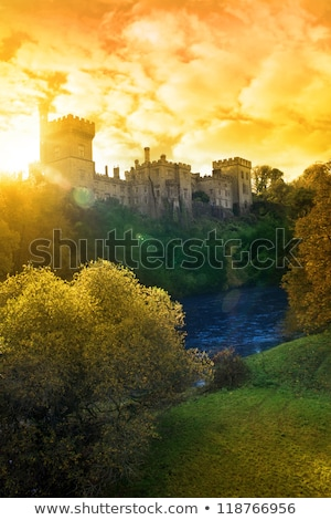 Lismore castle over the beautiful blackwater river Stock photo © morrbyte