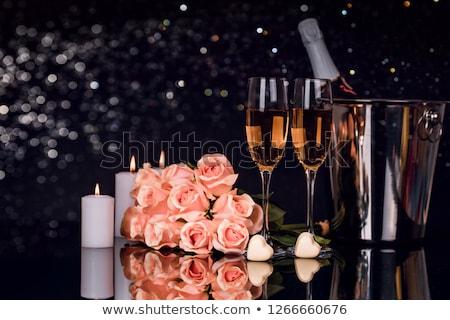 2 · 眼鏡 · シャンパン · バケット · ボトル · ミラー - ストックフォト © karandaev