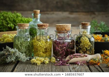 伝統的な · 薬 · 薬 · 医療 · インフルエンザ · 木製のテーブル - ストックフォト © lightsource