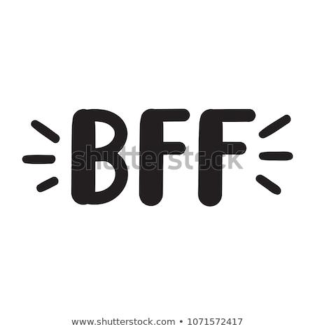 Güzel arkadaşlar sonsuza dek kart vektör dizayn Stok fotoğraf © bharat