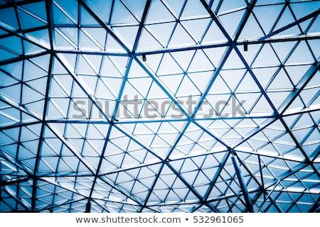 抽象的な ショット ガラス建築 青空 ビジネス 建物 ストックフォト © shanemaritch