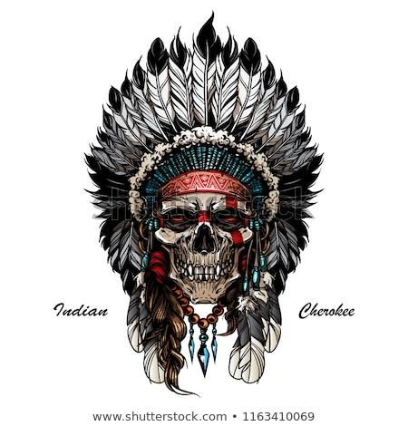 cazador · puesta · de · sol · ilustración · hombre · naturaleza · silueta - foto stock © adrenalina