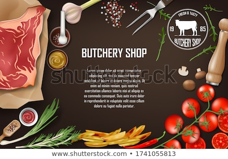 Meat Border Stock photo © Lightsource