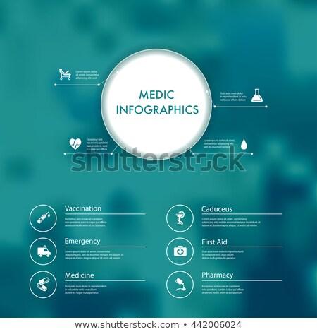 Medical background with Caduceus medical symbol presentation wor Stock photo © bharat