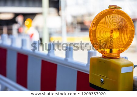 yellow signal lamp on construction site stock photo © franky242