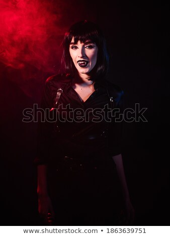 Portré gyönyörű nő vámpír pompás retro gyönyörű Stock fotó © vlad_star