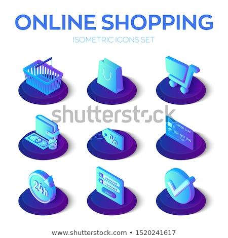 Vector 3D inloggen icon Blauw witte Stockfoto © nickylarson974