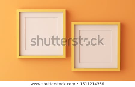 Two Square Paintings hanging on the art gallery wall Stock photo © stevanovicigor