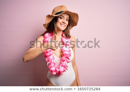 Young woman in bikini showing thumb up Stock photo © stockyimages