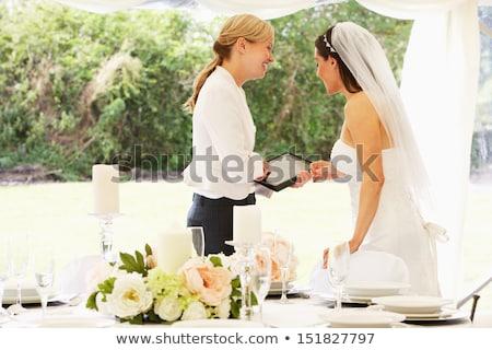 ślub · dziennika · okno · świetle · przewiewny - zdjęcia stock © monkey_business