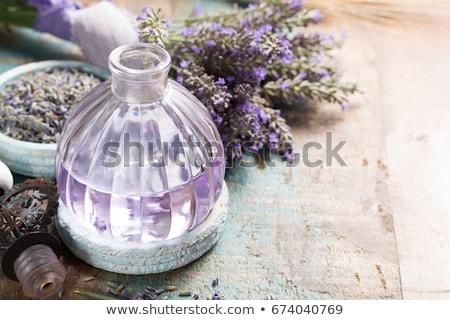 роскошный ручной работы лаванды мыло изолированный белый Сток-фото © natika