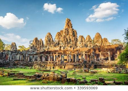 Angkor ville Cambodge mur pierre architecture Photo stock © prill