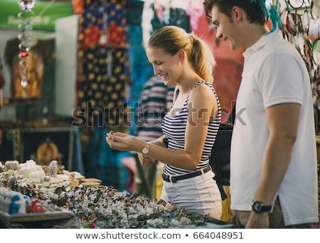 Utca piac kézzel készített jókedv játék bolt Stock fotó © remik44992