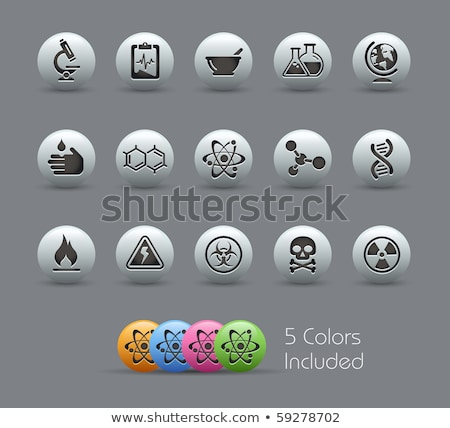 ícone prata botão preto educação assinar Foto stock © aliaksandra