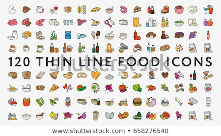 icon set food and drink vector stock photo © mr_vector